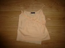 Women's Cop. Copine Peach Strappy Wrap Front Ruffle Neck Cotton Top 36/ UK 8/ S
