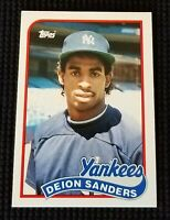 NEW! DEION SANDERS 1989 Topps Traded #110T ROOKIE RC New York Yankees