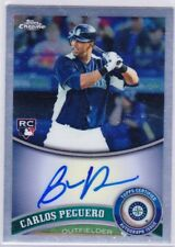 CARLOS PEGUERO 2011 Topps Chome ROOKIE On Card Auto Autograph SEATTLE MARINERS