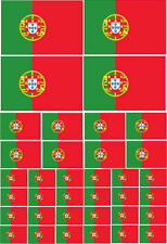 PORTUGAL / PORTUGUESE FLAG Vinyl Sticker Multi Pack - Europe Themed