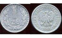 POLOGNE  1 zloty  1966