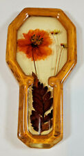 Vintage Resin with Dried Flowers Kitchen Spoon Rest Retro