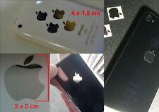 4 ADESIVI MELA PER COVER IPHONE SMARTPHONE CROMATO GLASS VARI COLORI STICKERS