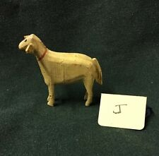 Vintage Tiny Wood carved Standing German Miniature Christmas Sheep ~ Antique J