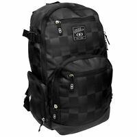 No Fear Check Backpack Black/Charcoal Rucksack Sports Bag Gymbag Kitbag