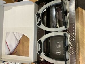Flex On Safe On Adults Stirrups Grey Frame, Grey Elastomers, Inclined Ultra Grip