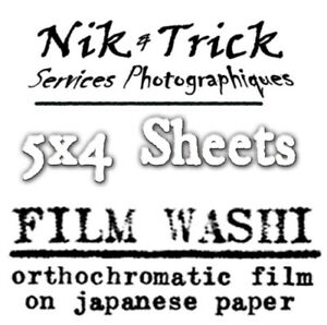 Washi Film - Handmade Film on Japanese Paper - 5x4 Sheets - Pack of 12