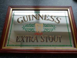 Guiness Extra Stout Mirror Pub Memorabilia