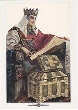 Solomko Russian Folk Princess reads book #15 repro Russian modern postcard