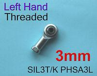 Freeship 4pcs Left Hand Threaded 3mm SIL3T/K PHSA3L Female Rod End Joint Bearing