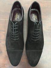 BNIB LIDFORT VELOUR NERO Men's Black Suede Cap Toe Oxfords – US 11-D, UK - 44