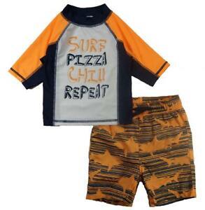 P.S. from Aeropostale Boys Surf Pizza Rashguard Swim Set Size 2T 3T 4T 4 5 6 7