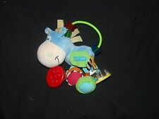 """Playgro Clip Clop Blue Horse Baby Rattle Ring Mirror Toy Developmental 7"""""""