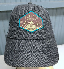Buffalo Mountain Collective Tweed Small / Medium Snapback Baseball Cap Hat