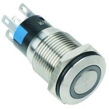 White LED 16mm Momentary Vandal Resistant Push Switch 3A SPDT