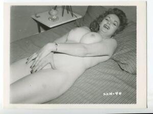 CHERRIE KNIGHT Burlesque Nude Star 1950 Original Vintage Pinup Photo  B4785
