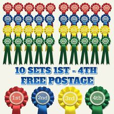10 sets of 1st - 4th Rosettes 1 Tier FREE POSTAGE
