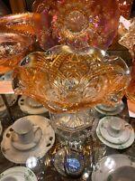 Marigold Fenton Carnival Glass Comport