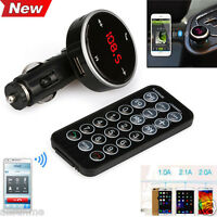 Bluetooth Wireless LCD MP3 Player Car Kit SD MMC Modulator USB FM Transmitter UK