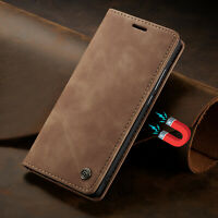 For iPhone 12 11 Pro XS 5 SE 6 7 8 Plus Magnetic Genuine Leather Flip Case Cover