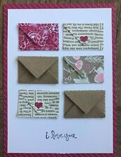 Stampin Up I LOVE YOU Stamp, ALL MY LOVE DSP & MINI ENVELOPE Die Valentine's Lot