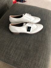 Next BNWT Ladies White Size 7 Leather Brogues