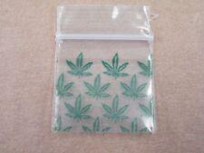 Tiny Polythene Bag Zip Seal Box of 1000 Pcs Size 25 x 25mm LEAF