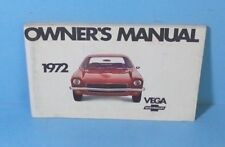 72 1972 Chevrolet Vega owners manual ORIGINAL