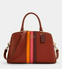 Coach Lillie Carryall Terracotta/Pink/Multi With Varsity Stripe (1945) - NWT