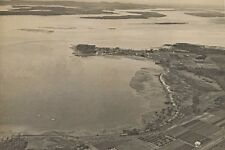 Queensland VICTORIA POINT Aerial view circa 1952 modern Digital Photo Postcard