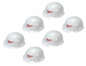 Milwaukee 48-73-1020 Front Brim Vented Hard Hat with BOLT Accessories 6 Pack