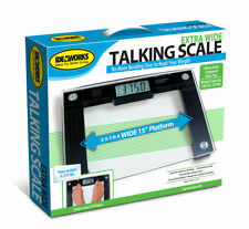 IdeaWorks Extra Wide Talking Glass Bathroom Scale Weight