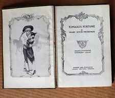 Tomaso S FORTUNE Henry Seton Merriman Vintage Buch Kurzgeschichten c1914