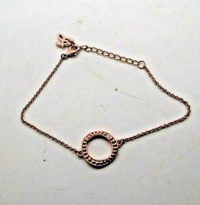 NEW Adore Jewelry Organic Circle Beaded Bracelet, Rose Gold Swarovski Crystal