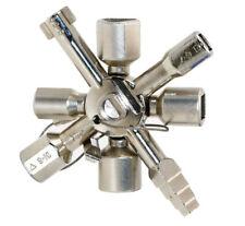 10 Way Service Utility Key 10 In 1 Universal Cross Key Plumber Keys Triangle For