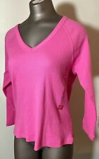 Jones New York Women's Pink Gray Geometric Silk Blouse 10 M Medium Top Shirt
