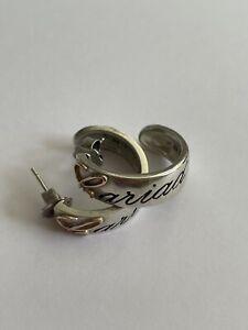 Vintage 9ct Rose Gold & 925 Silver Clogau Cariad Hoop Earrings Pierced Ears 8.9g