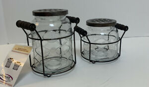 Farmhouse Country Glass Vases Ultimate Innovations Self-Arranging With Holders