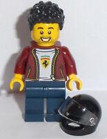Ferrari Pit Crew Race Car Driver Face Mask NEW Lego Balaclava RED MINIFIG HEAD