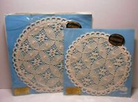 2 VTG Wetherall Princess Lace Nottingham England Genuine Leavers Lace Doilies