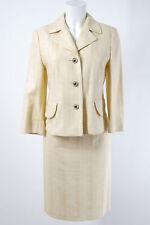 LAUREL Kostüm Gr. M / 38 Baumwolle Blazer Rock Jacket Skirt Casual Business Suit
