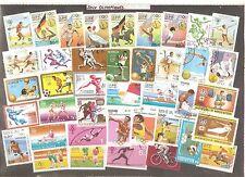 lot de 75 timbres théme jeux olympiques
