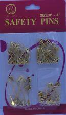 Golden épingles de sûreté de taille 0# ~ 4# *** Le Moins Cher Sur Ebay ***