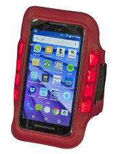 Aura Red LED Phone Armband For Jogging Running Walking