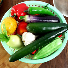 Realistic Artificial Plastic Fruit Vegetables Kitchen Display Food Photo Props
