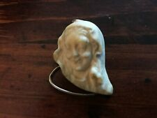 "Beautiful Handmade Carved Natural Bone Organic Pendant 1.25""L x 1""W"