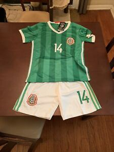 NWT Mexico National Team Chicharito Soccer Jersey and Shorts Kids Size 24