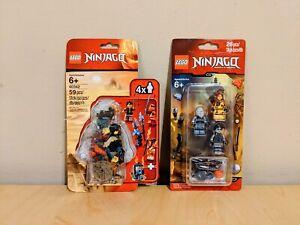 LEGO Ninjago Accessory Packs 853687 Elemental Masters & 40342 Clutch Power   New