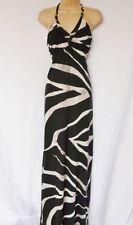 Viscose Halter Neck Long Sleeve Striped Dresses for Women