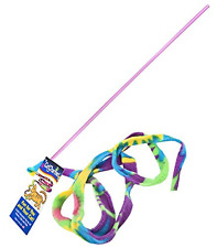 Cat Dancer Cat Charmer Wand Teaser Toy, Multicolor